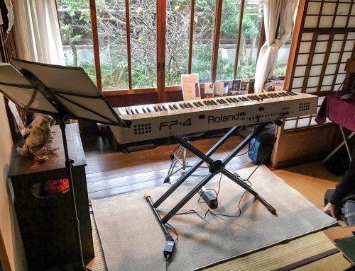 電子ピアノレンタル@鎌倉古民家カフェ