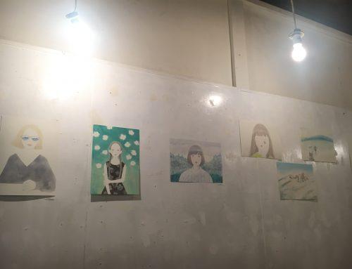 辻堂のDelicatessen LamaにMegumi Hirayamaちゃんの個展と相川理沙ちゃんのライブを見に行きました